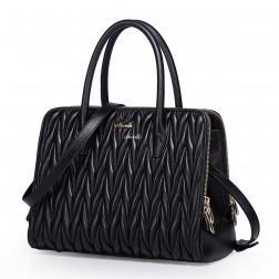 Grand sac à main en cuir noir