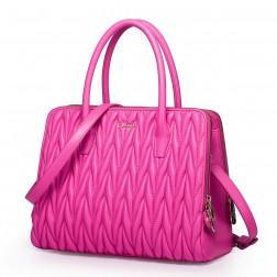 Grand sac à main en cuir rose
