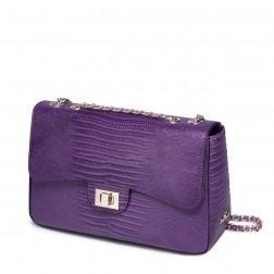 Pochette SEREN en cuir violet