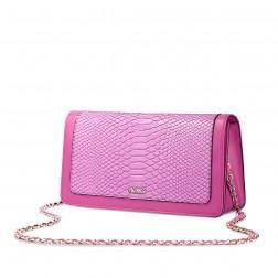 Peti sac à chaîne imprimé animal rose