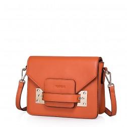 Sac satchel en cuir orange