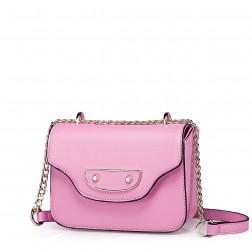 Sac satchel cartable en cuir rose