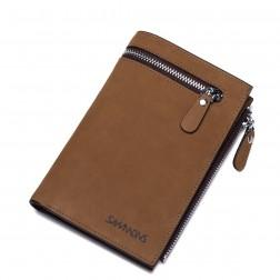SAMMONS Men Cowhide leather wallet Camel