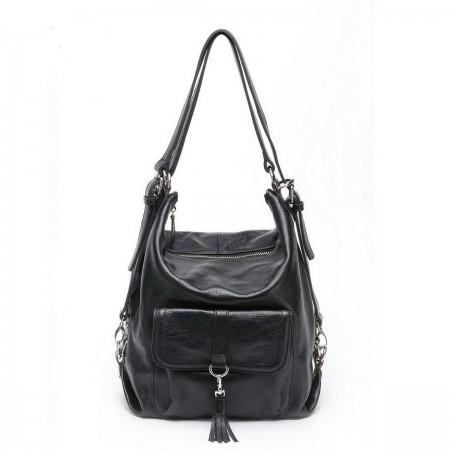 NUCELLE Across body shoulder bag Black