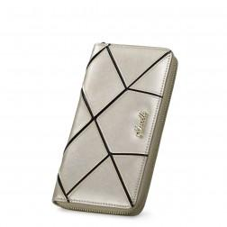 Women's genuine leather wallet Silver