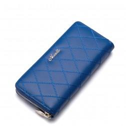 Men's zippered wallet Blue