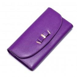 NUCELLE Leather Sweet women wallet Purple