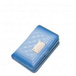 NUCELLE Gradient color sheep skin leather Short Clutch Blue