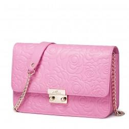 NUCELLE women genuine leather shoulder bag Pink