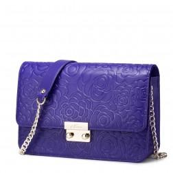 NUCELLE women genuine leather shoulder bag Purple