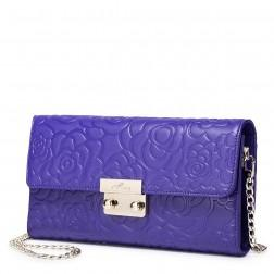 Retro rose embossing leather bag Purple