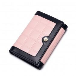 Leather wallet medium Pink