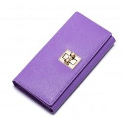Colorful sweet women leather wallet Purple