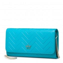Fashion leather women clutch bag Blue