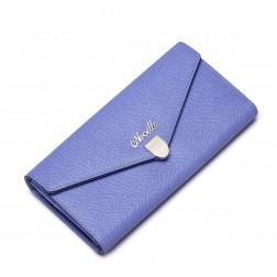 NUCELLE Women Genuine leather wallet long style Purple
