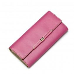 NUCELLE Leather long style wallet Rose red