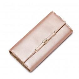 NUCELLE Leather long style wallet Gold