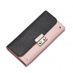 NUCELLE Genuine leather long style wallet Pink