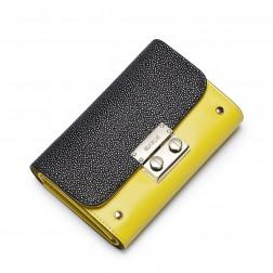 NUCELLE Genuine leather short wallet Yellow