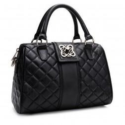 Elegant soft leather handbag black