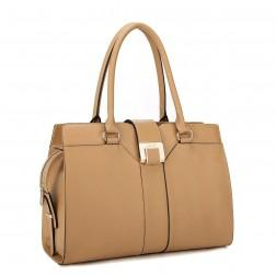 NUCELLE Elegant leather handbag apricot
