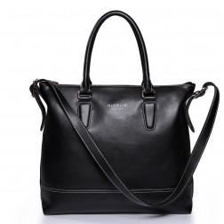 Women's genuine leather handbag black