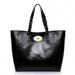 NUCELLE Classic leather handbag black