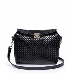 Long strap shoulder bag black