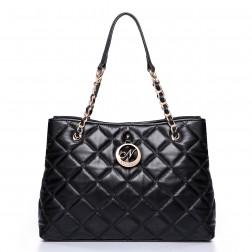 Short strap shoulder bag black
