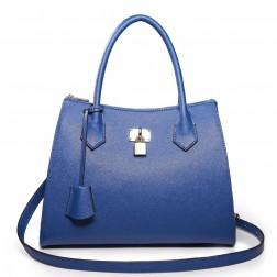 NUCELLE Leather tote bag blue