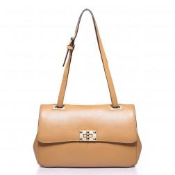 Trendy shoulder bag brown