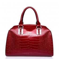 NUCELLE Patent-leather handbag red
