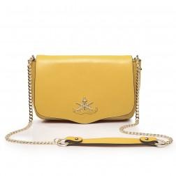 Women's genuine leather handbag yellow