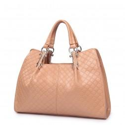 Short strap shoulder bag apricot