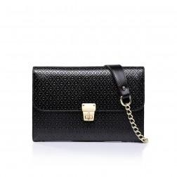 Leather evening bag black