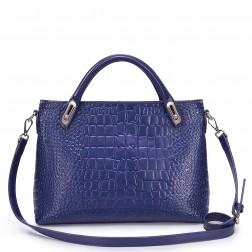 Women's crocodile pattern bag blue