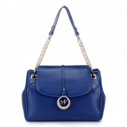 NUCELLE Quilted chain strap bag blue