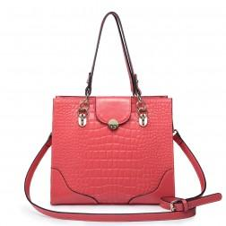 Women's elegant leather bag red