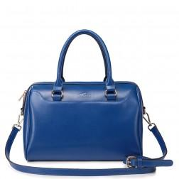 Ladies leather shoulder bag blue
