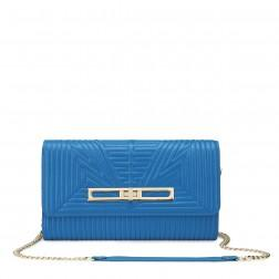 Genuine leather handbag blue
