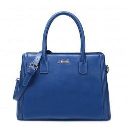 Elegant leather handle bag yellow