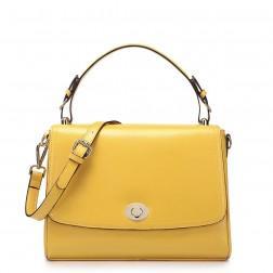 Stylish leather handbag blue