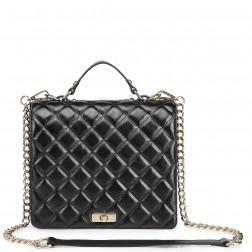 NUCELLE Leather satchel bag black