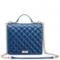 Fashionable leather handbag yellow