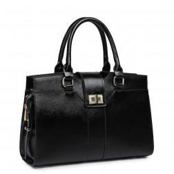 Women's genuine leather bag black