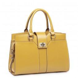 Classy leather handbag brown