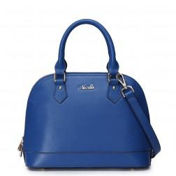 Women's elegant tote bag blue