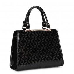 Women's leather handbag gold