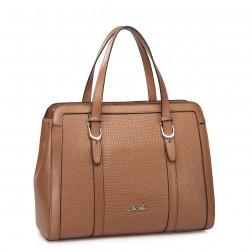 Stylish leather bag red