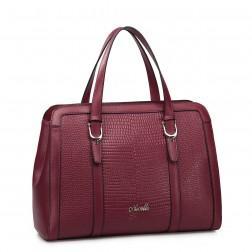 NUCELLE Genuine leather tote bag blue